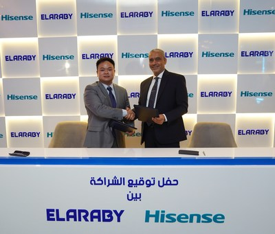 (L) Mr Jason Ou, MD, Hisense Middle East & North Africa and (R) Eng. Mohamed Mahmoud Elaraby, CEO of Elaraby Group