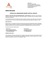 Africa Oil announces share capital update (CNW Group/Africa Oil Corp.)