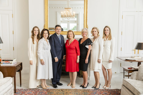 Cervera Real Estate was recently awarded affiliate status in Leading Real Estate Companies of the World® and its luxury marketing division, Luxury Portfolio International®. Executives from Cervera, LeadingRE and LPI photographed from left-to-right: Alexandra Goeseke; Veronica Cervera Goeseke; Mickey Alam Khan; Alicia Cervera; Jennifer Harding; Alicia Cervera Lamadrid; Alicia Lamadrid.