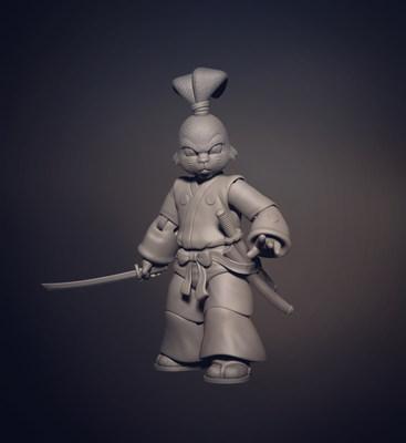 Concept sculpt for NECA's Usagi Yojimbo TMNT action figure