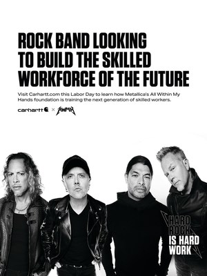 """Drawing inspiration from the 1981 """"musicians wanted"""" ad that formed Metallica, Carhartt and All Within My Hands created a national want ad aimed at raising funds and connecting people to workforce education opportunities. The reimagined ad features band members from Metallica with copy that harkens back to the original 1981 ad."""