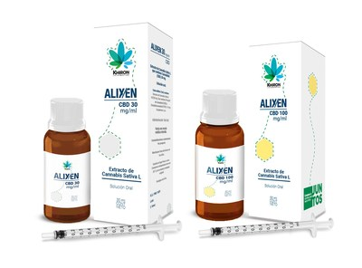 Alixen™ 30 and Alixen™ 100 (CNW Group/Khiron Life Sciences Corp.)