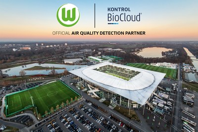 Kontrol BioCloud is the Official Air Quality Detection Partner for professional German Soccer Team VfL Wolfsburg (CNW Group/Kontrol Technologies Corp.)