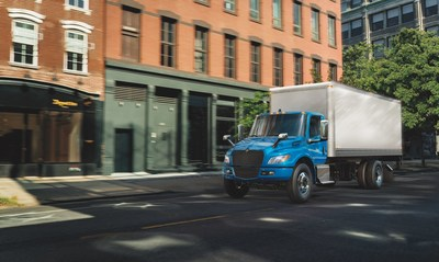Navistar launches the new fully-electric International eMV Series trucks - now in production and available to order.