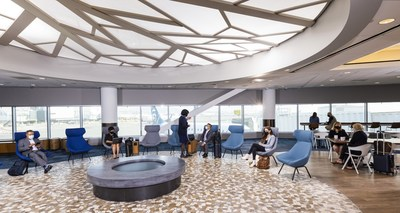 The new Alaska Lounge, conveniently located in Terminal 2 just past security, offers more than 9,000 square feet of relaxing space where guests can enjoy classic bites like San Francisco sourdough bread and a pint of the city's famed Anchor Brewing Crisp Pilsner while taking in art inspired by the Bay Area.