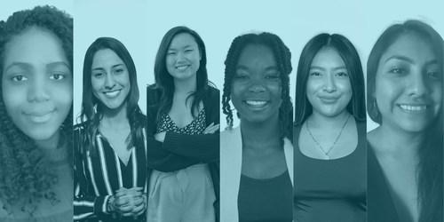 L-R: Jose-Romarah Chery, Carolina Espinal, Jennalei Louie, Assata Davis, Marian Anaya Castillo, Martina Carrillo