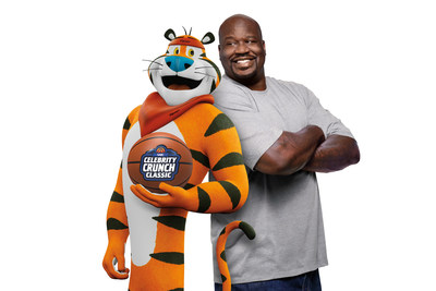 Tony the Tiger® and Hall of Famer Shaquille O'Neal are teaming up to make a huge, game-changing Mission Tiger™ impact on school districts in Boston, Cleveland, Los Angeles, Miami, Orlando and Phoenix — the six cities Shaq called home during his legendary basketball career.