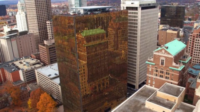 """One Financial Plaza, aka """"The Gold Building"""", in downtown Hartford, Conn."""
