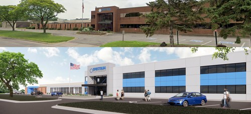 Before and After Planned Exterior Building Renovations
