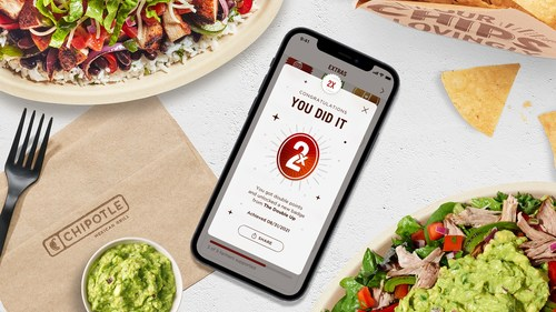 Chipotle is officially rolling out Extras, an exclusive feature for Chipotle Rewards members that unlocks access to extra points, helping members get to free Chipotle even faster. To celebrate the launch of Extras, Chipotle Rewards members can get double points on a purchase through September 3.