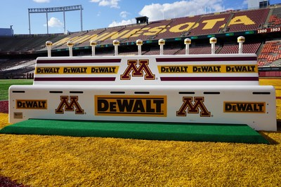 Tune in on Sept. 2 when Minnesota hosts Ohio State at 8 p.m. ET on FOX to catch the DEWALT logo displayed across in-stadium team benches