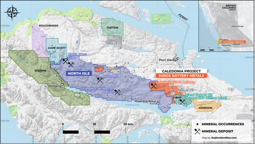 Surge Battery Metals Begins Exploration Program at the Caledonia Copper – Silver Project