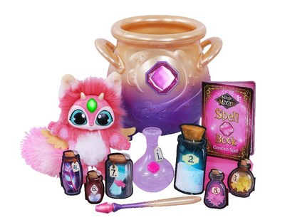 Magic Mixies Magic Cauldron WOWs kids and lets them share their magic skills. It comes with everything to create an interactive Mixie pet. Kids add water, then prompted by the cauldron, add mystical ingredients that foam and bubble to create the Mixie ― sparkle for its eyes, a magic feather for wings. A magical mist reveals the Mixie, sparking kids' imaginations and encouraging belief in magic. Kids also can make their own potions and recreate the mist with additional play modes.