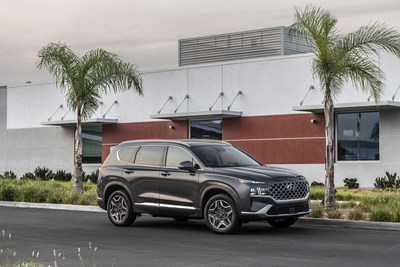 The 2022 Santa Fe is photographed in Ladera Ranch, CA on July 12, 2021