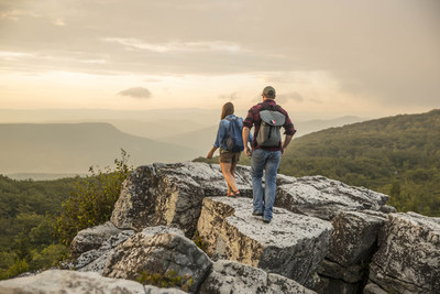 Adventurists exploring the Dolly Sods Wilderness Area.