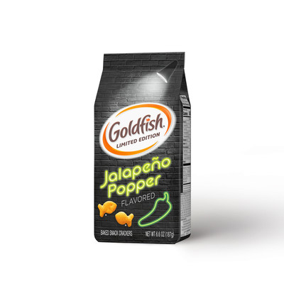 Goldfish® introduces limited-edition Jalapeño Popper flavored crackers.