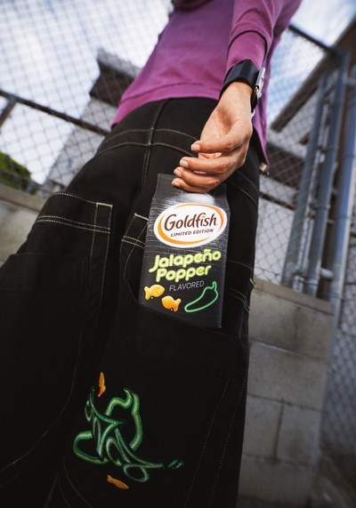 Goldfish® introduces limited-edition Jalapeño Popper flavored crackers and limited-edition Goldfish Jalapeño Popper JNCO jeans.