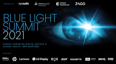 Blue Light Summit 2021 will bring together leaders across multiple industries, including consumer electronics, healthcare, and government to discuss the dramatic impact COVID-19 had on device usage, screen time and blue light exposure, sharing what each of their respective fields is doing to address this global health challenge.
