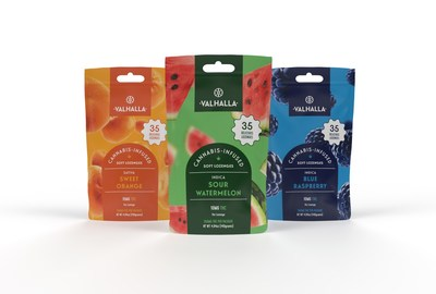 Valhalla Sweet Orange, Sour Watermelon and Blue Raspberry THC Infused Soft Lozenges, Available in the Apothecarium New Jersey Locations September 2, 2021 (CNW Group/TerrAscend)