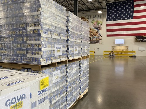 Goya Distributes An Initial Donation Of 40,000 Pounds Of Food To Victims Of Hurricane Ida