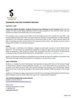 ShaMaran June 2021 Payments Received (CNW Group/ShaMaran Petroleum Corp.)
