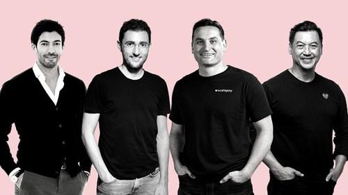 From left to right: Raffaele Terrone CFO, Simone Mancini CEO, Johnny Mitrevski CTO, Pingki Houang, General Manager (PRNewsfoto/Scalapay)