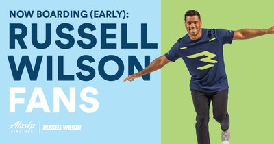 Alaska Airlines celebrates the return of football – brings back early boarding for guests wearing Russell Wilson jersey