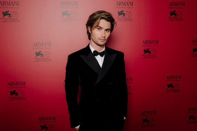 Chase Stokes at the Armani beauty dinner