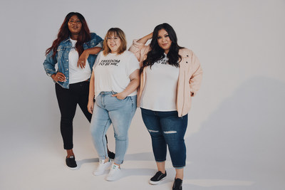 For its 'Freedom To Be Me.' campaign, Penningtons collaborated with (from left to right) Mélissa Bédard, Alicia McCarvell and Stephanie Valentine (also known as Glamzilla), a group of women who embrace the very essence of freedom by telling their stories honestly and unapologetically. (CNW Group/Penningtons)