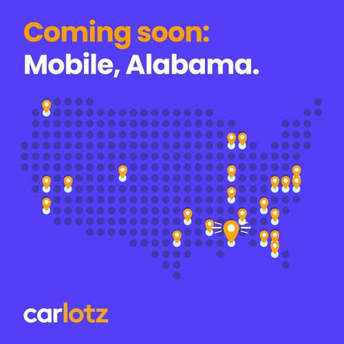 CarLotz (NASDAQ: LOTZ), the nation's largest consignment-to-retail used vehicle marketplace, announced it will open its first hub in Alabama located at 3016 Government Blvd in Mobile later this year.