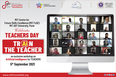 MIT Centre for Future Skills Excellence MIT ADT University celebrates National Teachers Day with Workshop on Artificial Intelligence for Teachers & Faculty Members