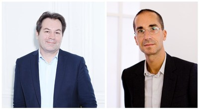 Portrait (left) of Guillaume Piens © Chiara Santarelli and portrait (right) of Hervé Mikaeloff © Mazen Saggar