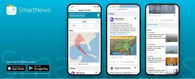 "SmartNews Hurricane ""Disaster Info Hub"""