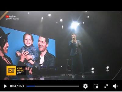 Last years Kids Music Day spokesperson Matthew Morrison advocating for music education on Entertainment Tonight
