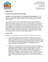 Josemaria Copper-Gold-Silver Project Update (CNW Group/Josemaria Resources Inc.)
