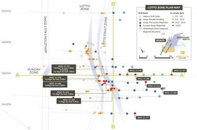 Figure 1. Lotto Plan View (CNW Group/New Found Gold Corp.)