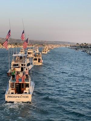 Rousing Newport Harbor Boat Parade Kicks Off 2021 War Heroes on Water Sportfishing Tournament