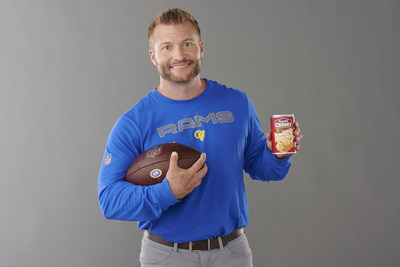 """The """"Lunchtime Is Your Halftime"""" campaign features Head Coach Sean McVay of the Los Angeles Rams, which marks the first time a coach has starred in a Chunky spot."""