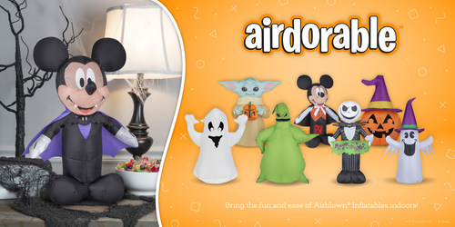 Decorators can place their favorite Airdorable™ anywhere inside to create a fun, family-friendly focal point for Halloween.