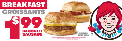 Wendy's Fans Can Score $1.99 Croissant Sandwiches Through October