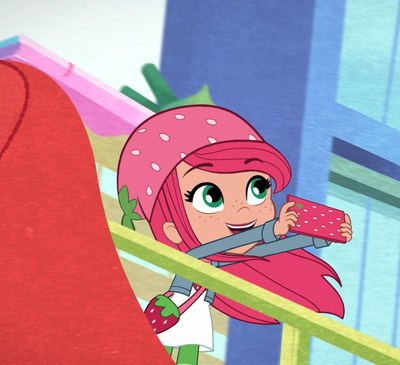WildBrain's original series BERRY IN THE BIG CITY, featuring the all-new Strawberry Shortcake, premieres exclusively on WildBrain Spark September 18 (CNW Group/WildBrain Ltd.)