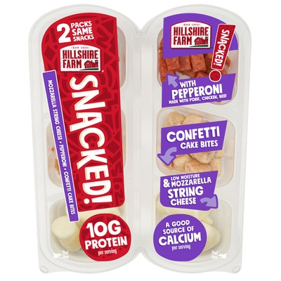 Hillshire Farm® SNACKED! Pepperoni with Confetti Cake Bites and Mini String Cheese