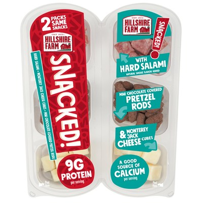 Hillshire Farm® SNACKED! Salami with Mini Chocolate Covered Pretzel Rods and Monterey Jack Cheese