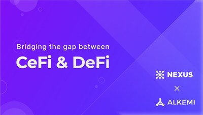 Nexus Markets and Alkemi Networks partnership is expanding to bridge the gap between CeFi & DeFi. Nexus will now be a CeFi on-ramp for users to invest in Alkemi Networks DeFi lending pools.