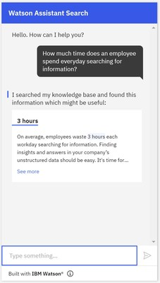 Using new natural language processing capabilities from IBM Research, Watson Assistant Search Skill can help customers resolve issues on first contact.