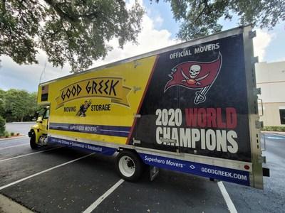 Το Tampa Bay Buccaneers 2020 World Champions Pickup Truck είναι διαθέσιμο για οικιακές μετακινήσεις