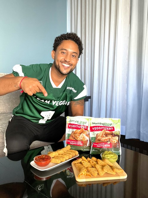 MorningStar Farms® Creates Plant-Based Playbook for Football Season Snacking, Taps Tahj Mowry to QB 'MVP' Effort