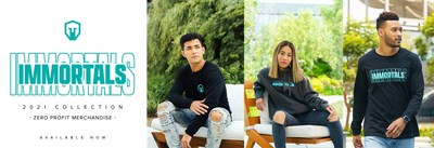 """Immortals Essentials, a new line of brand merchandise with a """"zero profit pricing"""" approach from esports org Immortals."""