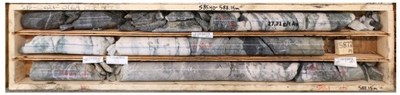 Figure 1: Photo of the 53 Vein intersected at 585.9m depth. (CNW Group/Talisker Resources Ltd)