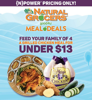 To provide its communities with simple, affordable, and nutritious recipes for themselves and their families, Natural Grocers officially introduces the addition of its good4u Meal Deal program. Members of {N}power, Natural Grocers' free loyalty program, can choose from a rotating selection of meals and price points, all of which include protein and only organic vegetables to maximize nutritional value.
